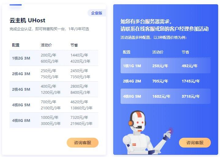 UCloud企业云服务器促销