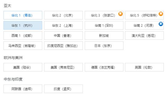阿里云,腾讯云,UCloud云服务器资源节点对比:UCloud海外资源节点最多