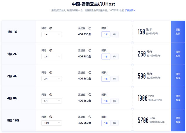UCloud云主机促销首台12.5元/月多台20.8元/月
