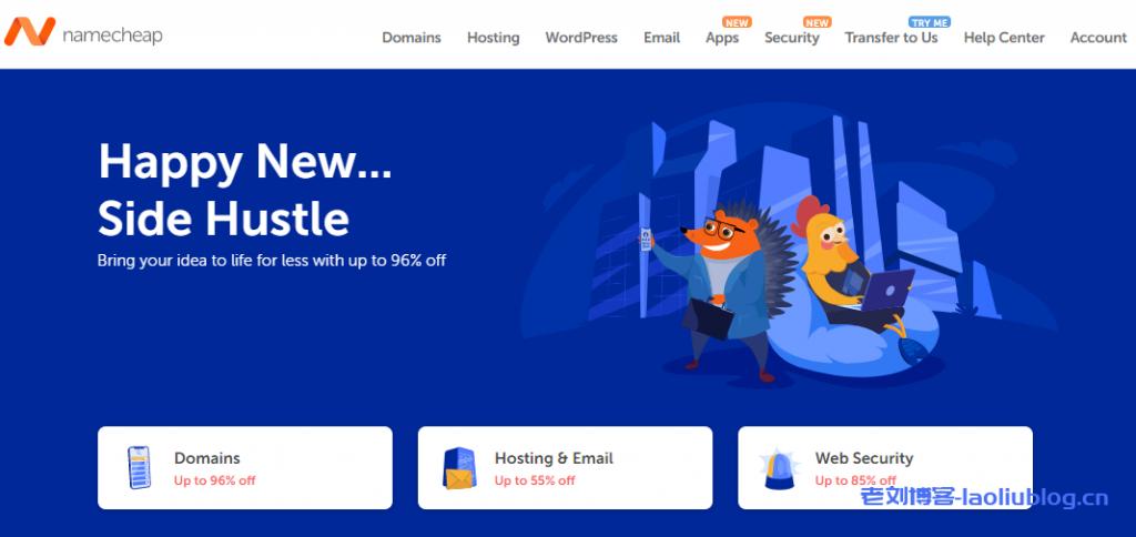 NameCheap新年首次促销域名、域名邮局、SSL证书和Premium DNS等最高优惠96%
