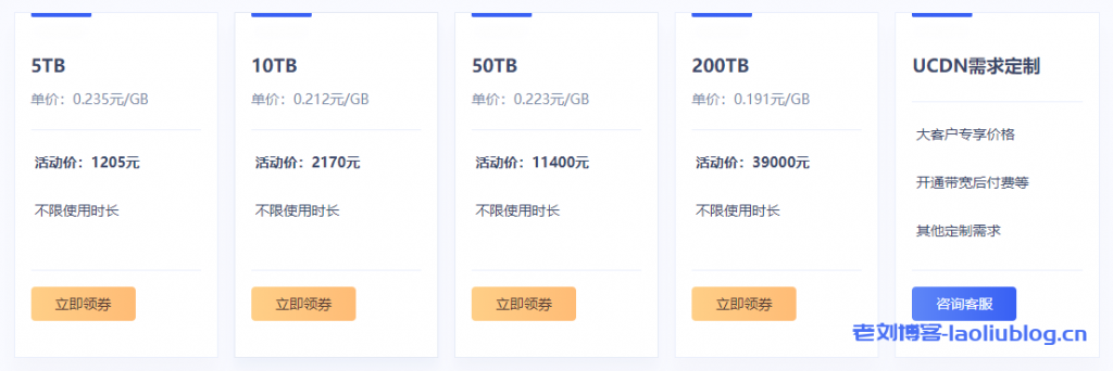 UCloud优刻得cdn流量包不限有效期,超值特惠低至3.53折1GB流量9分钱起,推荐使用cdn返10%佣金
