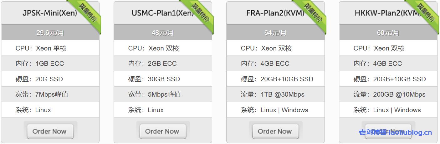 LocVPS限量特价套餐:Xeon单核CPU 1GB ECC内存20G SSD硬盘7Mbps峰值宽带Linux系统29.6美元/月