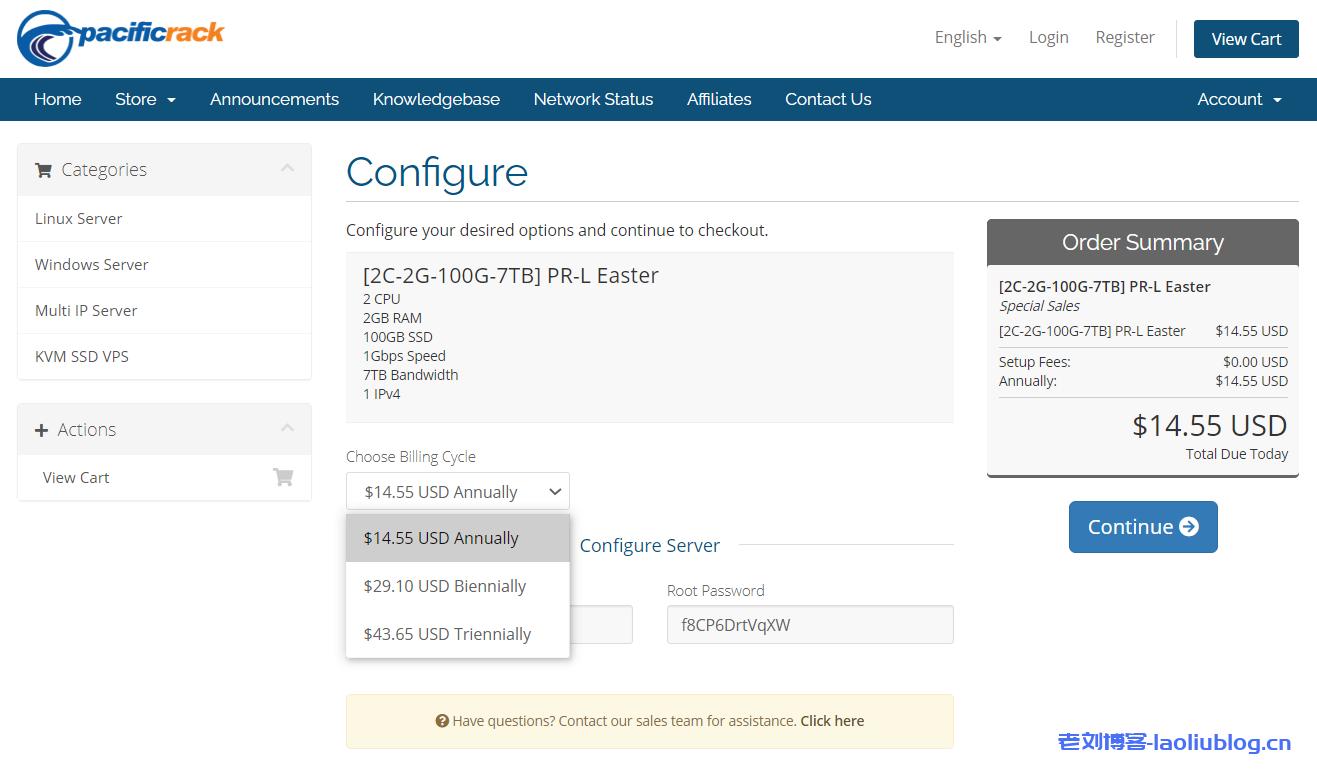 Pacificrack复活节优惠套餐:2核2G内存100G SSD硬盘7T月流量1Gbps端口洛杉矶VPS年付$14.55/2年付$29.10/3年付$43.65