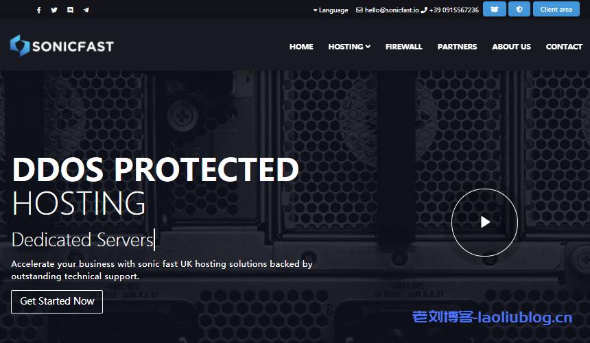 SonicFast英国VPS:免费100Gbps DDoS防护,€18/年/1核/512MB内存/5GB NVMe/1TB月流量/1Gbps端口/KVM