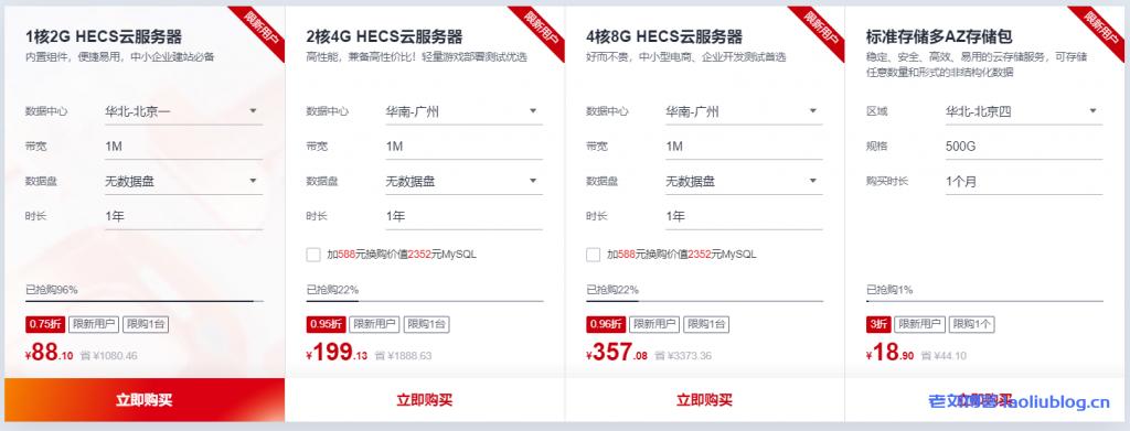 华为云618年中钜惠:注册领8000元礼包,4核8G企业级云主机357元/年