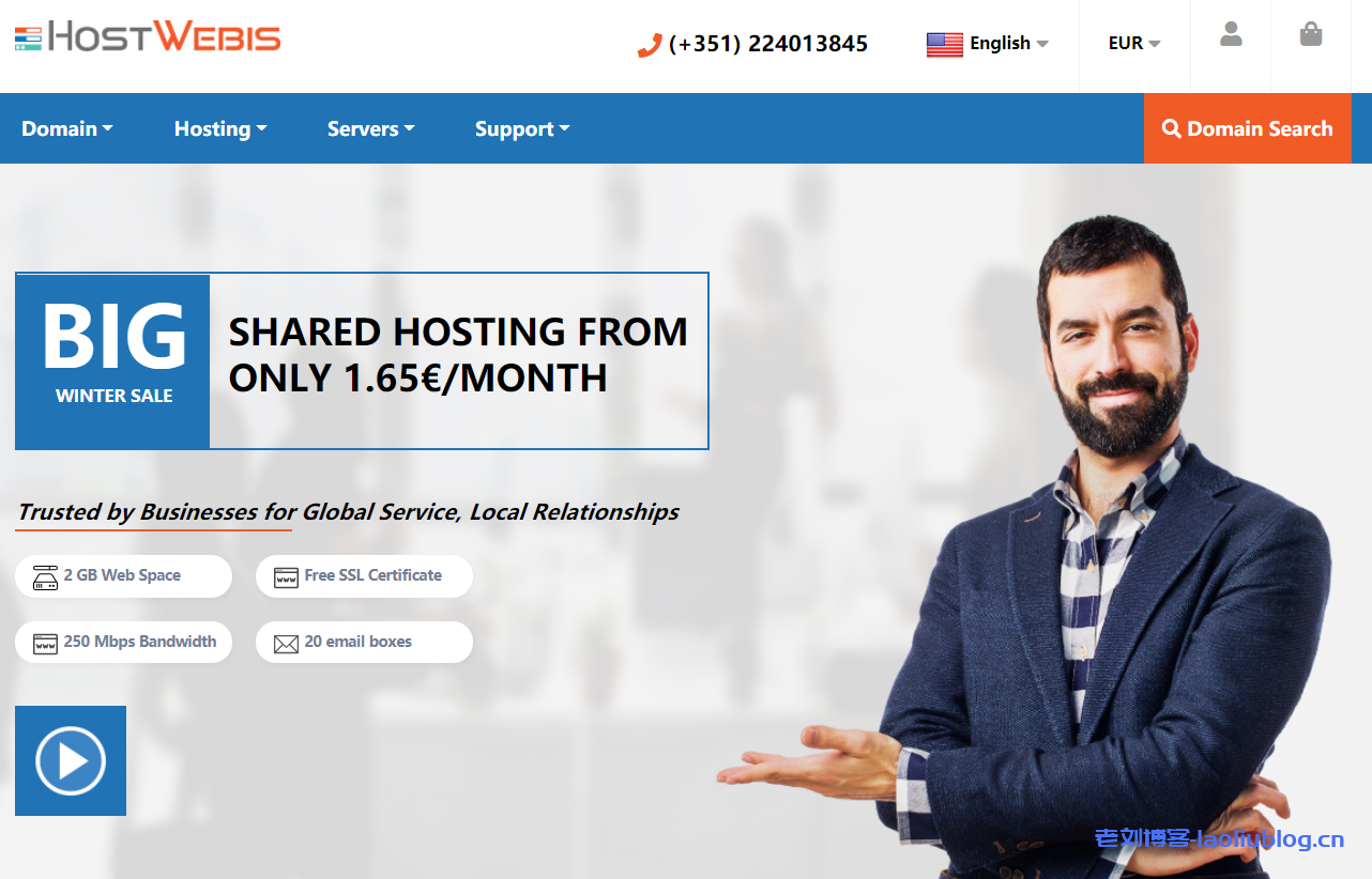 HostWebis便宜服务器:可选美国或法国机房,100Mbps不限流量,高配置大硬盘,$44/月起