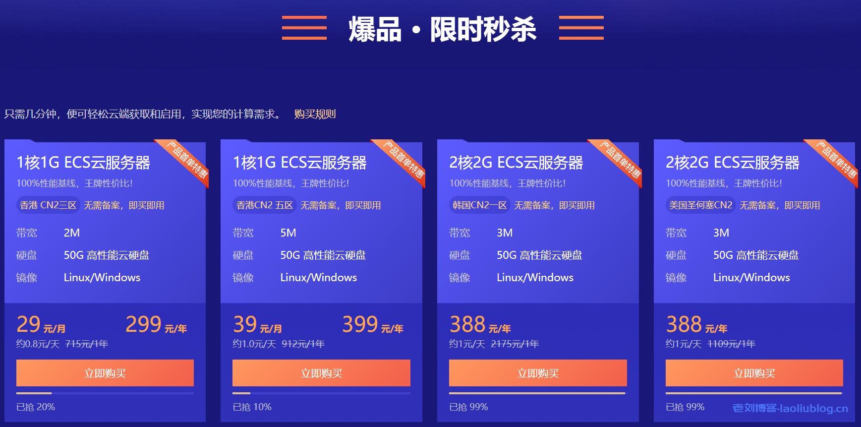 酷番云618限时秒杀活动:云产品0.8折起,香港CN2弹性云服务器1核1G内存50G硬盘2Mbps带宽月付29元年付299元